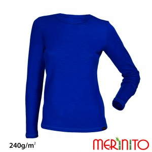 Bluza First Layer Dama Merinito 240g/mp Albastra