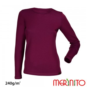 Bluza First Layer Dama Merinito 240g/mp Mov