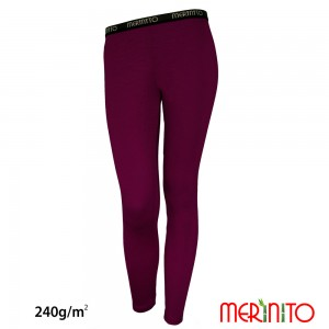 Pantaloni First Layer Femei Merinito 240g/mp Mov