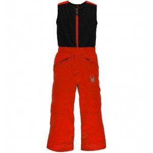 Pantaloni schi si snowboard Spyder Mini Expedition Boys Negri/ Rosii
