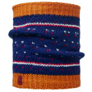 Neck tube Buff Comfort Knitted Ethel Albastru/ Portocaliu