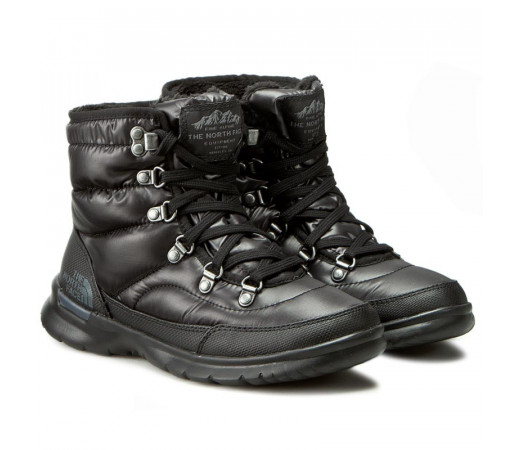 Ghete Femei Hiking The North Face Thermoball Lace II Negru