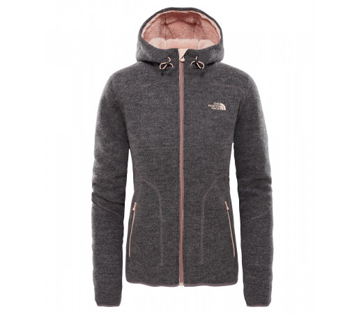 Hanorac Femei The North Face Zermatt Full Zip Hoodie Gri
