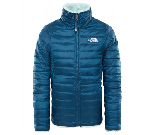 Geaca Fete Hiking The North Face Reversible Mossbud Swirl Albastru