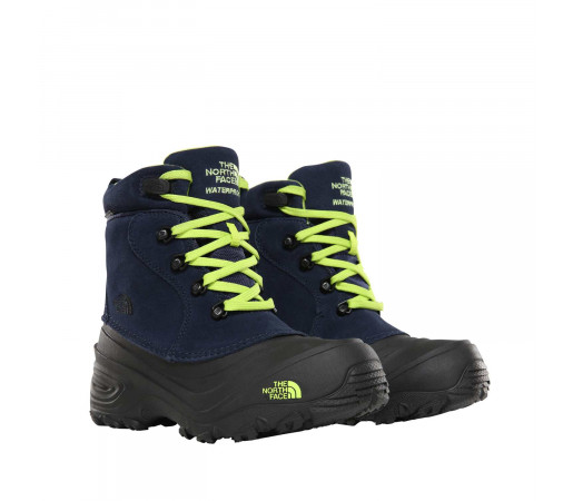 Ghete Copii The North Face Youth Chilkat Lace 2 Cosmic Blue/Lime Green (Bleumarin)