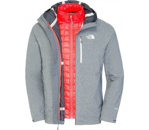 Geaca The North Face M Thermoball Triclimate Grey/Red
