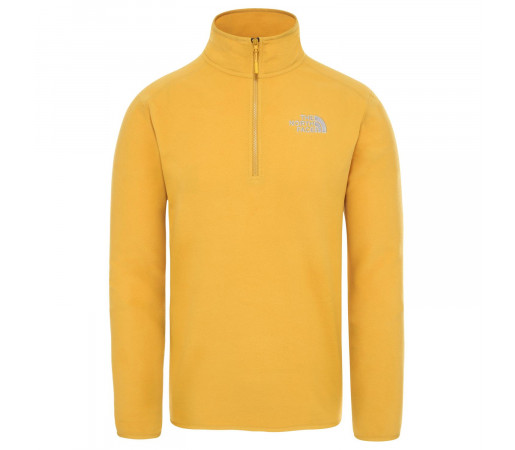 Polar Drumetie Barbati The North Face 100 Glacier 1/4 Zip Golden Spice (Galben)