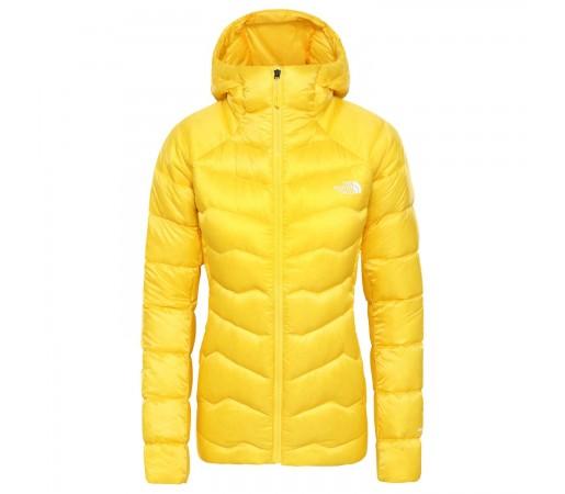 Geaca Puf Drumetie Femei The North Face Impendor Down Hoodie Vibrant Yellow (Galben)