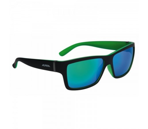 Ochelari De Soare Unisex Alpina Kacey Black Matt/Green Negru