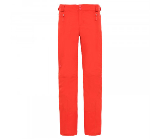Pantaloni Ski Femei The North Face Presena Pant Fiery Red Regular (Rosu)