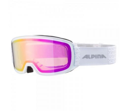 Ochelari Ski Si Snowboard Unisex Alpina Nakiska HM White/Pink Alb