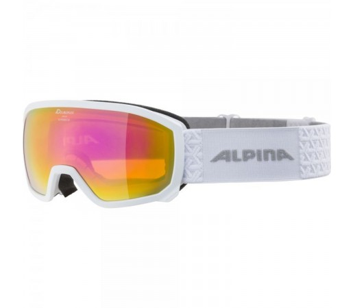 Ochelari Ski Si Snowboard Copii Alpina Scarabeo Jr HM White-White/Pink Alb