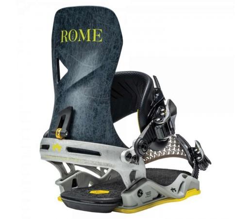 Legaturi Snowboard Unisex Rome Vice Grey Lines Gri