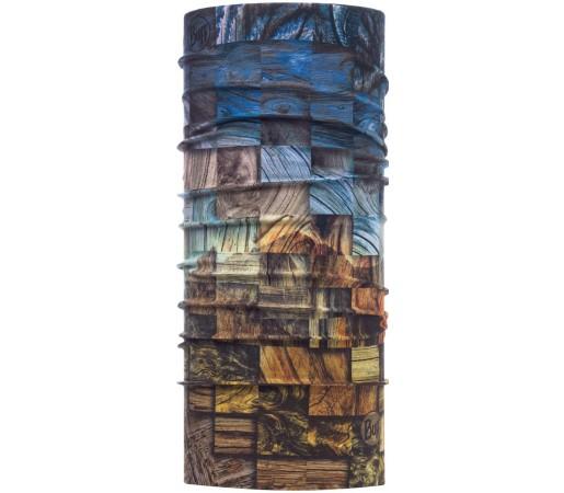 Neck Tube Buff Wood Collage High UV Multicolor