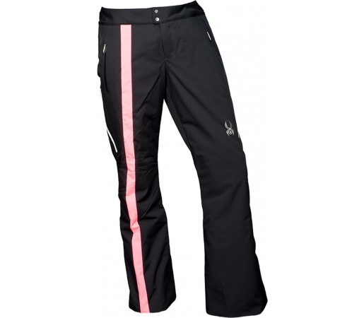Pantaloni Schi si Snowboard Spyder Temerity Tailored Fit Negru/Roz