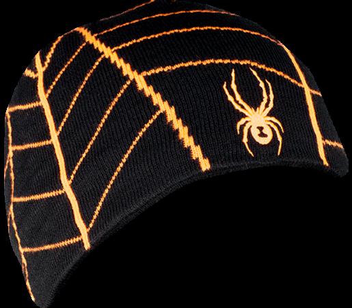 Caciula Spyder Web Negru/Portocaliu