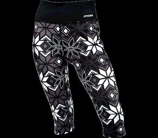 Pantaloni First-Layer 3/4 Spyder Styler Negru/Alb