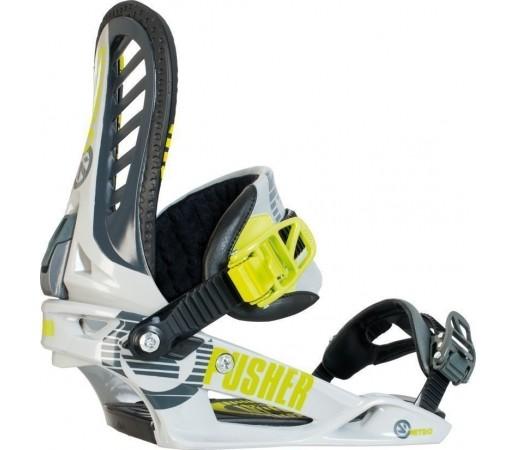 Legaturi Snowboard Nitro Pusher Gri/Lime 2014