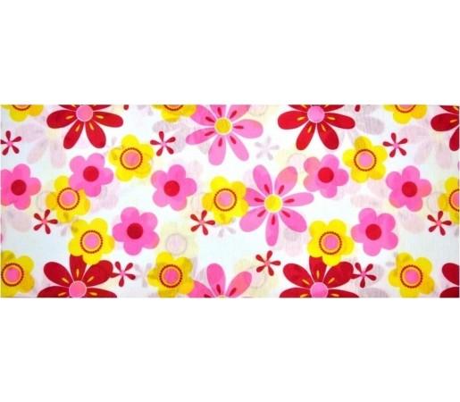 Neck tube Bars Flower Roz/ Galben/ Alb