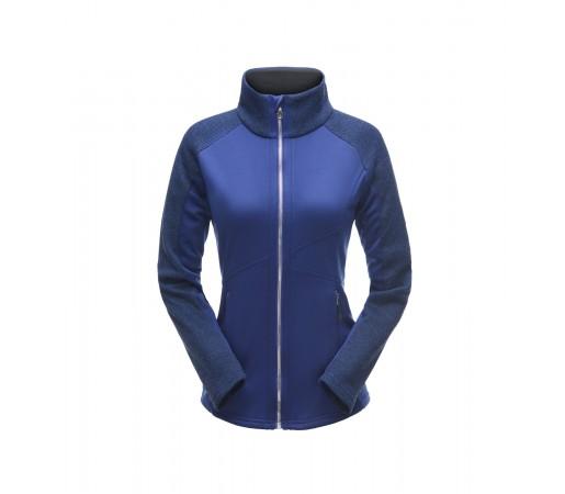 Bluza Mid-Layer Femei Spyder Bandita Full Zip Stryke Albastru