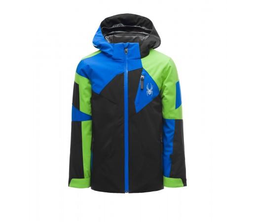 Geaca Baieti Ski Spyder Leader Negru / Verde
