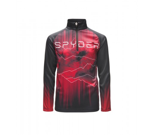 Bluza Mid-Layer Baieti Spyder Limitless Rising Negru / Rosu