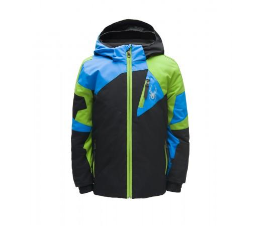 Geaca Baieti Ski Spyder Mini Leader Negru / Albastru