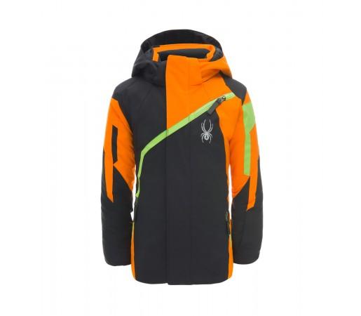 Geaca Baieti Ski si Snowboard Spyder Mini Challenger Negru / Portocaliu