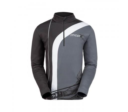 Bluza Ski Barbati Spyder Rival Black White (Negru)