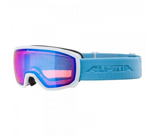 Ochelari Ski Si Snowboard Copii Alpina Scarabeo Jr HM White-Skyblue/Blue Alb
