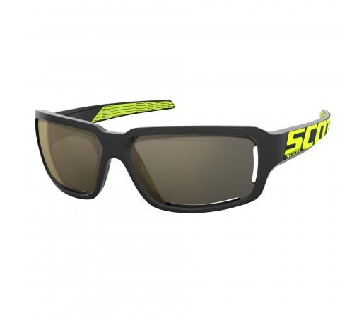 Ochelari de soare Alergare Scott Obsess ACS Black / Neon Yellow / Gold Chrome
