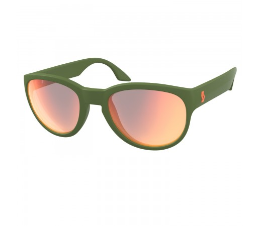 Ochelari Soare Casual Unisex Scott Sway Dark Green Matt/Red Chrome Enhancer (Verde)