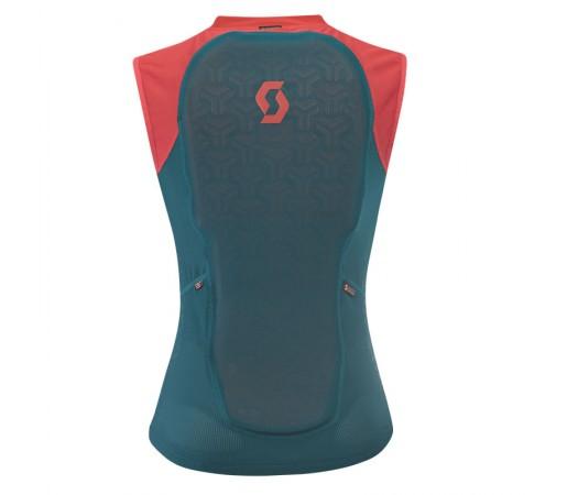Vesta Protectie Ski si Snowboard Femei Scott Light Vest W Actifit Plus Verde / Rosu