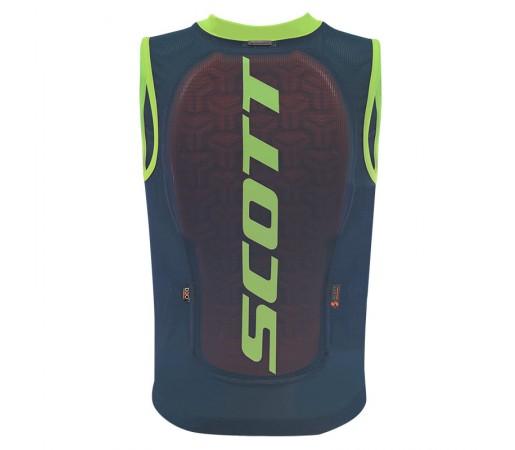 Vesta Protectie Ski si Snowboard Juniori Scott Vest Protector Actifit Plus Bleumarin / Verde