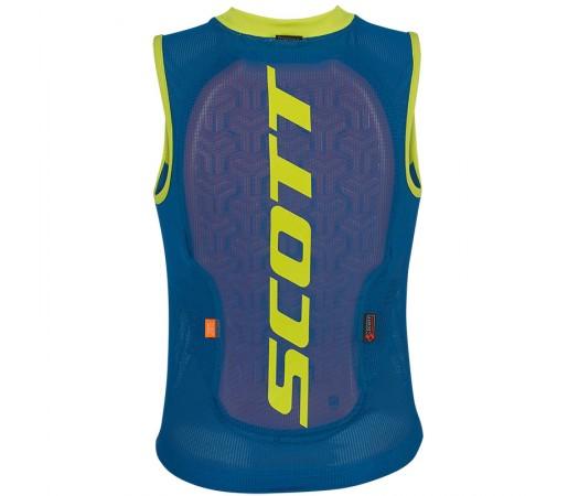 Vesta Protectie Ski si Snowboard Juniori Scott Vest Protector Actifit Plus Albstru / Galben