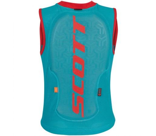 Vesta Protectie Ski si Snowboard Juniori Scott Vest Protector Actifit Plus Turcoaz / Rosu