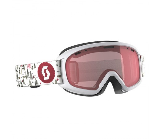 Ochelari Ski si Snowboard Juniori Scott Witty White/Pink / Illuminator