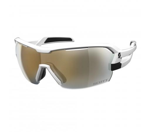 Ochelari de soare Ciclism Scott Spur M White Matt / Gold Chrome + Clear