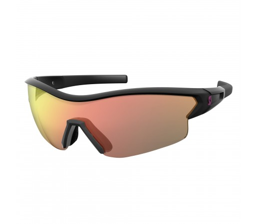 Ochelari de soare Ciclism Scott Leap Black Glossy / Red Chrome Enhancer + Clear