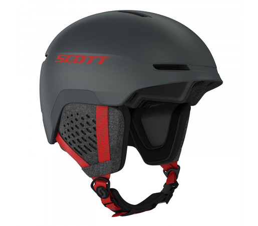 Casca Ski Unisex Scott Track Iron Grey/Red