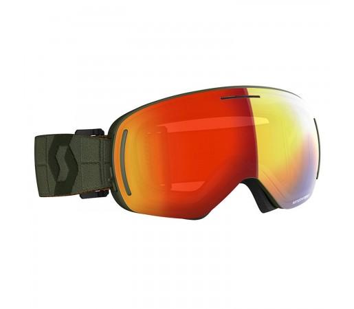 Ochelari Ski Unisex Scott Lcg Evo Kaki Green/Enhancer Red Chrome