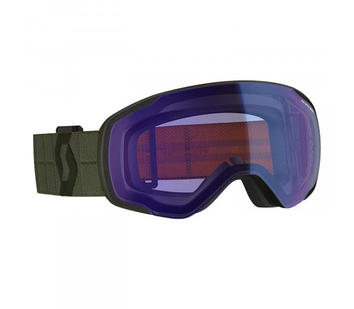 Ochelari Ski Unisex Scott Vapor Kaki Green/Illuminator Blue Chrome