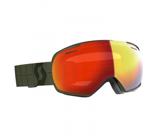 Ochelari Ski Unisex Scott Linx Kaki Green/Enhancer Red Chrome