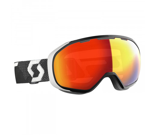 Ochelari Ski Unisex Scott Fix LS Black/White/Light Sensitive Red Chrome