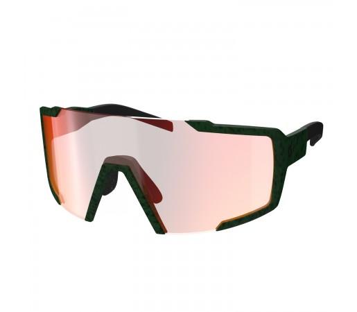 Ochelari Soare Alergare Unisex Scott Shield Iris Green/Red Chrome Enhancer (Verde)
