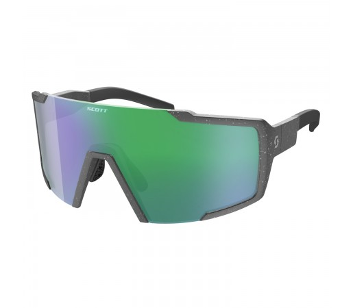 Ochelari Soare Alergare Unisex Scott Shield Grey Marble/Green Chrome (Gri)
