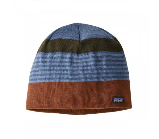 Caciula Patagonia Beanie Hat Fitz Roy stripe / Sisu Brown (Multicolor)