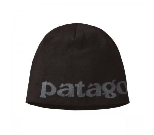 Caciula Patagonia Beanie Hat Logo Belwe / Black (Negru)