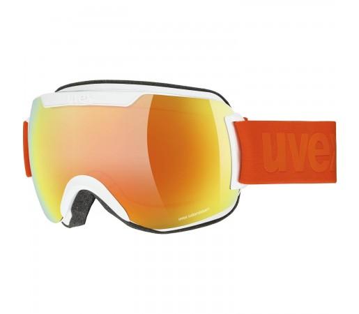 Ochelari Ski si Snowboard Unisex Uvex Downhill 2000 CV White Mat Mirror Orange Green
