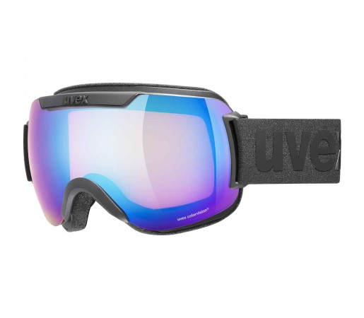 Ochelari Ski si Snowboard Unisex Uvex Downhill 2000 CV Black Mirror Blue Orange